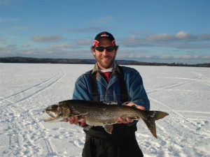 Winter Ice Fishing Lake Trout