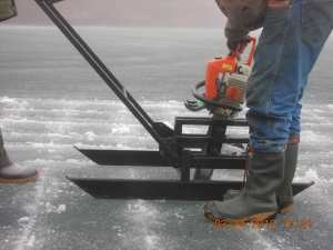 Ice harvest 2012 Barker Bay Resort